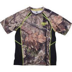 Realtree and Mossy Oak Boys' Camo Short Sleeve Performance Tee, Size: XL, Multicolor