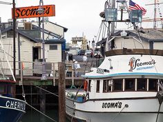 Scoma's Restaurant, Pier 47 Fisherman's Wharf, San Francisco, CA ~ Yum my favorite restaurant at Fisherman's Wharf!