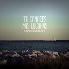 Este mensaje fue compartido vía Andrés Cepeda Wisdom, Songs, Humor, Beach, Water, Quotes, Outdoor, Music, Texts