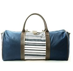 Gear up for Memorial Day weekend with our waxed canvas weekender & interchangeable stripe wrap.  Www.shopmiscere.com