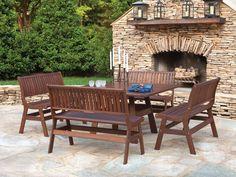 Jensen Leisure Beechworth 5 Piece Outdoor Dining Set
