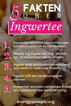 12 Beste Gründe warum Ingwertee Gesund ist 12 Best reasons why ginger tea is healthy - energywise Fitness Nutrition, Health And Nutrition, Health And Wellness, Health Tips, Burn Fat Build Muscle, Salud Natural, Workout Essentials, Yoga For Weight Loss, Workout For Beginners
