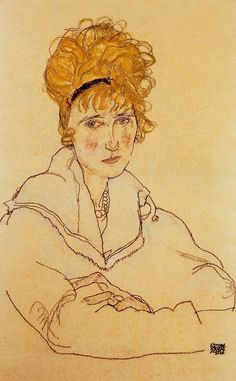 Portrait of Edith Schiele by @engonschiele #artnouveau
