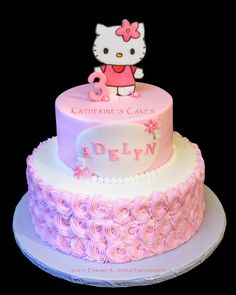 Cake ideas on pinterest hello kitty birthday cake hello kitty cake