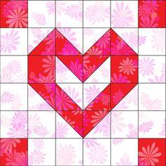 Playful Hearts Block