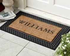 Ordinaire Personalized Basketweave Rubber U0026 Coir Doormats
