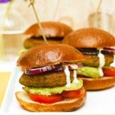 Falafel Sliders with Avocado Hummus from Chloe's Kitchen (Vegan)