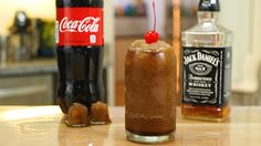 JD & Coke Slush..an easy way to make these..is to go Buy Coke slushy, poor Jack in it..stir..and enjoy.