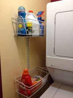 "Exceptional ""laundry room storage small shelves"" information is offered on our internet site. Take a look and you wont be sorry you did. Small Laundry Closet, Laundry Closet Organization, Laundry Closet Makeover, Laundry Room Organization, Laundry In Bathroom, Closet Storage, Laundry Storage, Laundry Tips, Organizing"