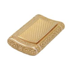 Gold Tobacco Box   From a unique collection of vintage boxes and cases at https://www.1stdibs.com/jewelry/objets-dart-vertu/boxes-cases/