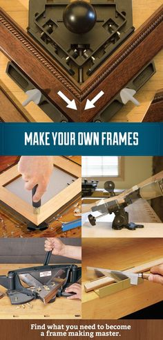 Ever wanted to make your own frames and save yourself the expense of high end frames or custom frames? It's not actually that hard to do if you have the right tools. Frame making is a great hobby for beginning woodworkers and DIYers alike. #diyframes #f More