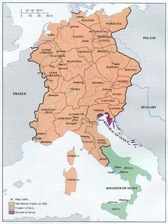 map of the Holy Roman Empire