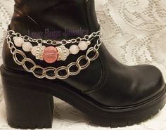 Pink Bling Boot Jewelry, Boot Bracelet, Boot Bling, Boot Jewelry, Cowgirl Boot Bling, Boot Band Bracelet