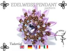 EDELWEISS Pendant pattern with Chilli beads DIY tutorial by PearlyBeadDesign on Etsy:
