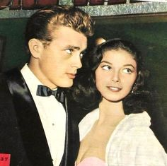 James Dean and Pier Angeli in a tabloid magazine, 1954.
