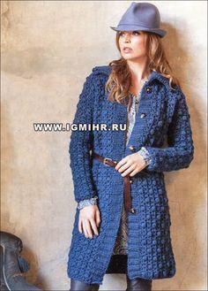 Схемы вязания крючком пальто для женщин - описание 45