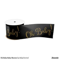 Oh Baby Baby Shower Blank Ribbon