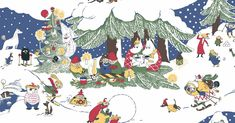 Suggest an old Moomin duvet cover design by Finlayson for reproduction and win! Winter Holidays, Winter Christmas, Christmas Cards, Winter Drawings, Moomin Valley, Best Duvet Covers, Tove Jansson, Christmas Cartoons, Winter Wallpaper