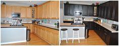 DIY Expresso Java Kitchen Cabinets Gel Stain