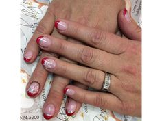 Red French Nails by Alan French Nails, French Manicures, Essie Colors, Polish, Red, French Tips, Vitreous Enamel, Nail, Nail Polish