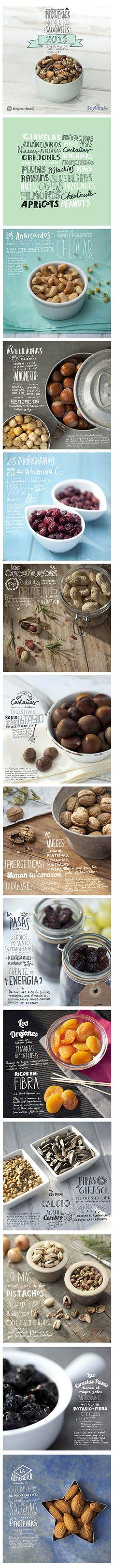 Calendario 2013 de frutos secos Importaco. Dirección de arte juan Martinez, lettering Gloria Martinez, fotografías Enric Perez. www.martinezestudio.com