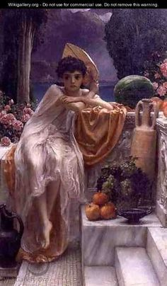 Sir Edward John Poynter painting