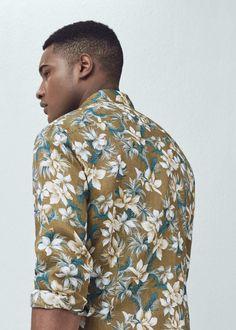 Camisa slim-fit estampado floral | MANGO MAN