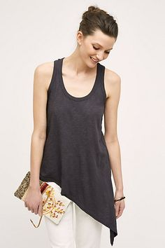 Think this would go well with a lot and flatter heavy bottom :-) Sloped Tank #anthropologie