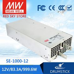361.72$  Watch here - http://ali5tt.worldwells.pw/go.php?t=32775997615 - Worthwhile Free shipping MEAN WELL SE-1000-12 2Pcs 12V 83.3A meanwell SE-1000 12V 999.6W Single Output Power Supply 361.72$