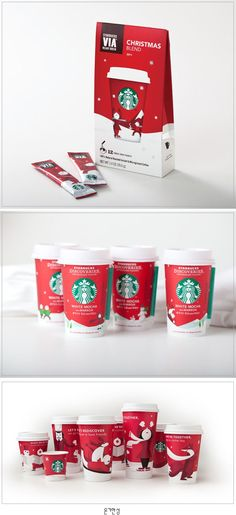 30 Creative Christmas Packaging Design examples for your inspiration - TwoStyles Christmas Design, Christmas Themes, Christmas Fun, New Year Packages, Virtual Flowers, Starbucks Christmas, Online Florist, Coffee Packaging, Packaging Design Inspiration