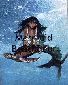 Turtle earrings by MermaidBeachgear on Etsy