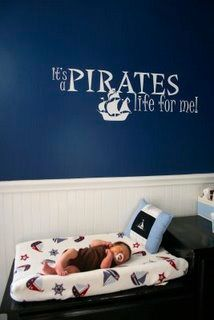Nautical Nursery... this will be my childs room and when ever i have a kid it will loves pirates as much as its momma