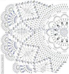 Crochet Leaf Patterns, Crochet Doily Diagram, Crochet Leaves, Thread Crochet, Filet Crochet, Crochet Motif, Crochet Designs, Crochet Round, Crochet Home