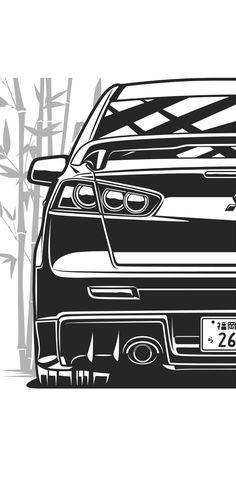 New Car Wallpaper, Car Iphone Wallpaper, Mustang Wallpaper, Jdm Wallpaper, Animes Wallpapers, Car Wallpapers, Cool Car Stickers, Cool Car Drawings, Mitsubishi Galant