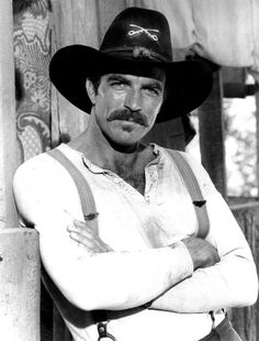 Tom Selleck, The Shadow Riders - Clint Eastwood, Mel Gibson and more of our favorite leading men of the past Tom Selleck, Hollywood Stars, Classic Hollywood, Shadow Riders, Mel Gibson, Western Movies, Blue Bloods, Raining Men, Moustaches