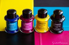 De Atramentis fountain pen inks are exclusively handmade in Germany by Dr. Franz-Josef Jansen, and come in a 35ml glass bottle. The Document series is permanent and waterproof.