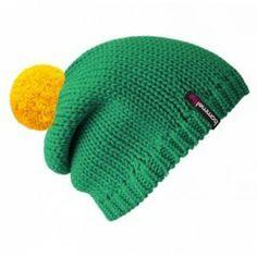 Beanie No.1 - Mützenfarbe Smaragd - Bommelfarbe Gelb #bommel #pompom #beanie