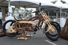 wooden bicyle