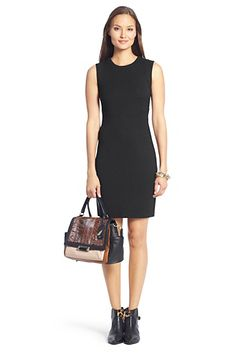 DVF Gretchen Jersey Bodycon Dress In Black #handbags #tote Visit us at www.savethreads.com