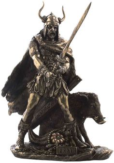 Freyr Norse God of Fertility Fantasy Art Statue Sculpture Figurine available at AllSculptures.com