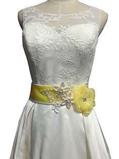 Organza flowers with appliques wedding sash (Yellow) Lemandy https://www.amazon.com/dp/B01H1QN5J8/ref=cm_sw_r_pi_dp_HogOxb35APKY2