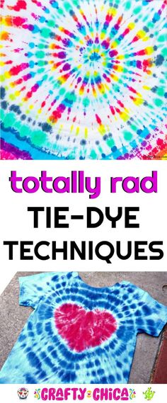 Tie-Dye Techniques to try - The Crafty Chica Here are some super fun tie-dye techniques to make with your friends, kids, or even for fundraisers, family gatherings or even group bonding activities. Kids Tie Dye, Kids Ties, How To Tie Dye, Tie And Dye, Ty Dye, Tie Dye Party, Diy Tie Dye Shirts, Tie Dye Crafts, Tie Dye Techniques