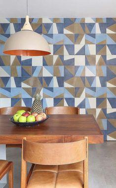 Azulejo de formas para sala de jantar