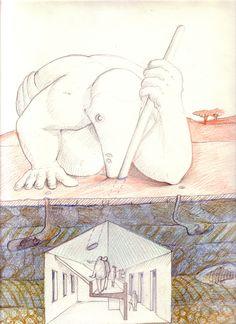1987_88 GE_SS.GIAFILI  1987_88.0_carta lucesa cm. 33 x 21,5 by Brunetto De Batté