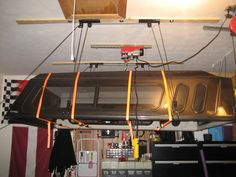 EZ off truck topper and storage device - The Garage Journal Board & Pulley system to quickly raise/lower truck canopy | DIY and How ...