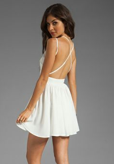 criss cross shoulder dress.