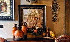 Old World Decor and Decorating - Old World Furniture for Mediterranean, Old World, Tuscan, Spanish and French Country style Decor in Salado, TX Old World Furniture, Tuscan Furniture, Italian Home Decor, Mediterranean Home Decor, Tuscan Style Homes, Tuscan House, Tuscan Decorating, French Country Decorating, Decorating Ideas