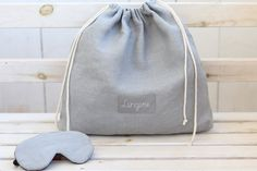 Cute Birthday Gift, Birthday Gifts For Her, Bridal Shower Gifts, Bridal Gifts, Linen Bag, Linen Fabric, Shoe Bags For Travel, Honeymoon Gifts, Elastic Thread