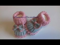 Crochet Baby Clothes, Crochet Baby Shoes, Baby Knitting Patterns, Crochet Patterns, Hand Embroidery Videos, Knit Baby Booties, Baby Slippers, Crochet Videos, Knitted Dolls