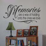 MEMORIES Inspirational Wall Decal
